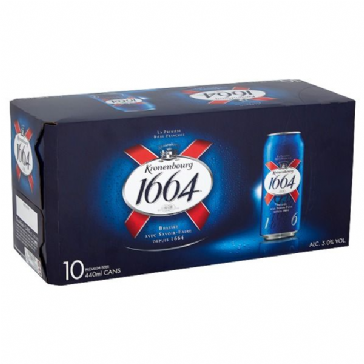 Kronenbourg 1664 Lager Beer 10 x 440ml Cans